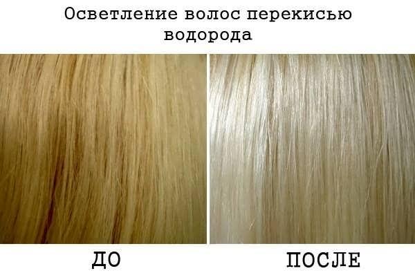 Осветлить черные волосы перекись водорода