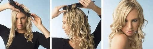 Накручиваем волосы на утюжок
