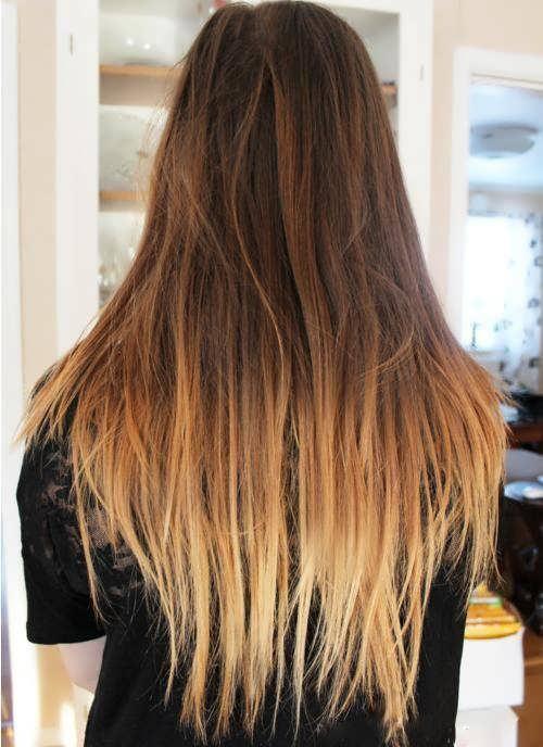 осветленные кончики волос на русых фото
