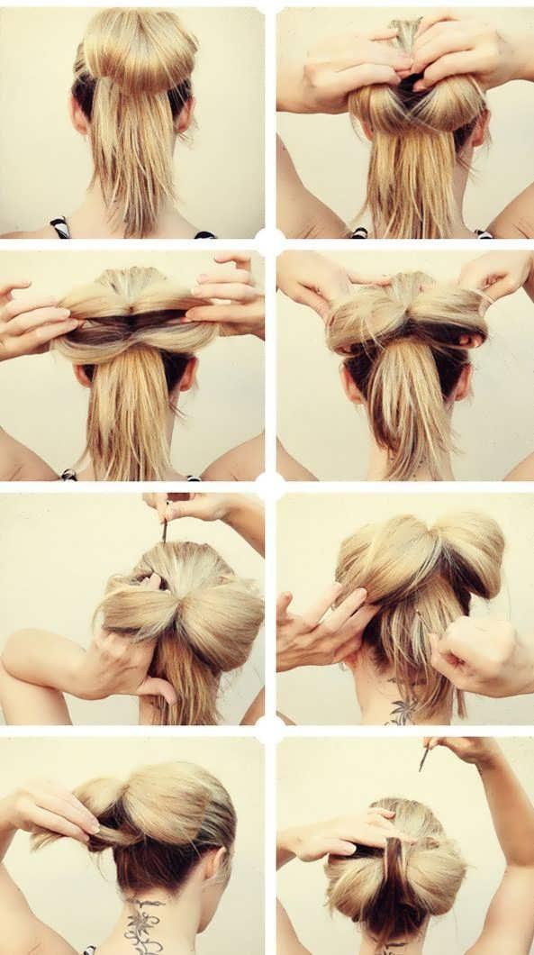 Бантик на волосы своими руками фото