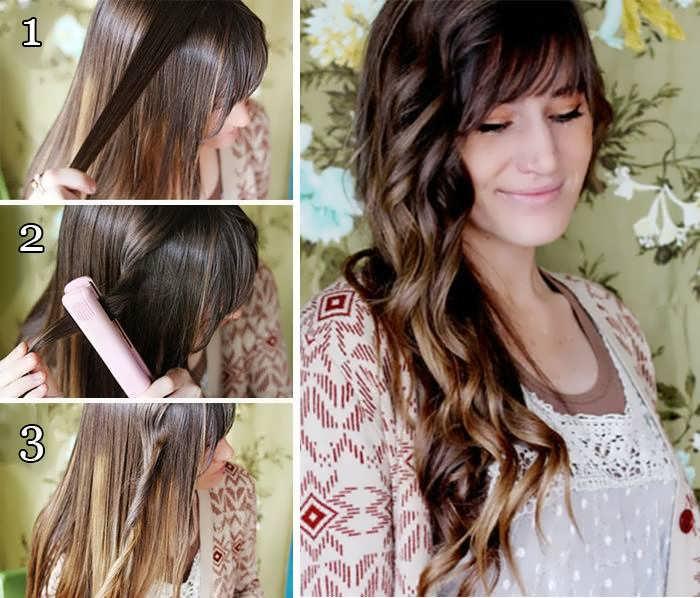 Как накрутить волосы с помощью утюжка