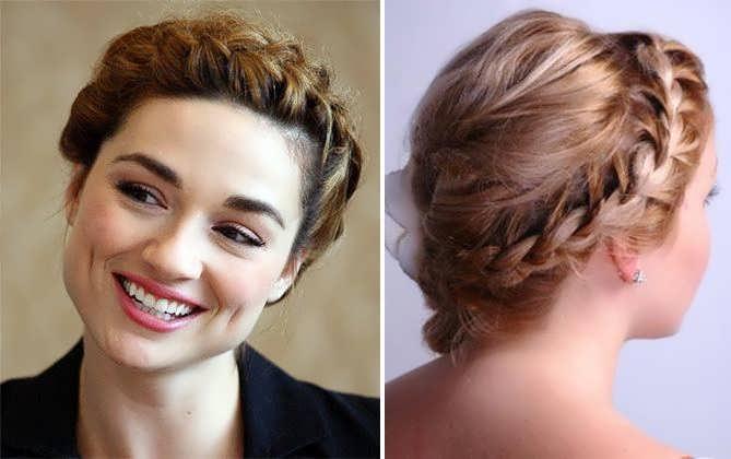 На коротких волосах плетение кос