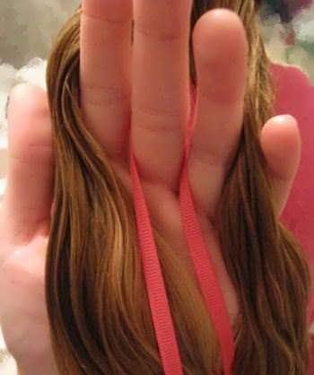 Как вплести ленту в косу поэтапно