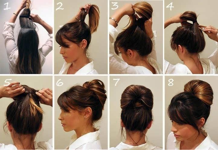 Прически женские на средние волосы на каждый день