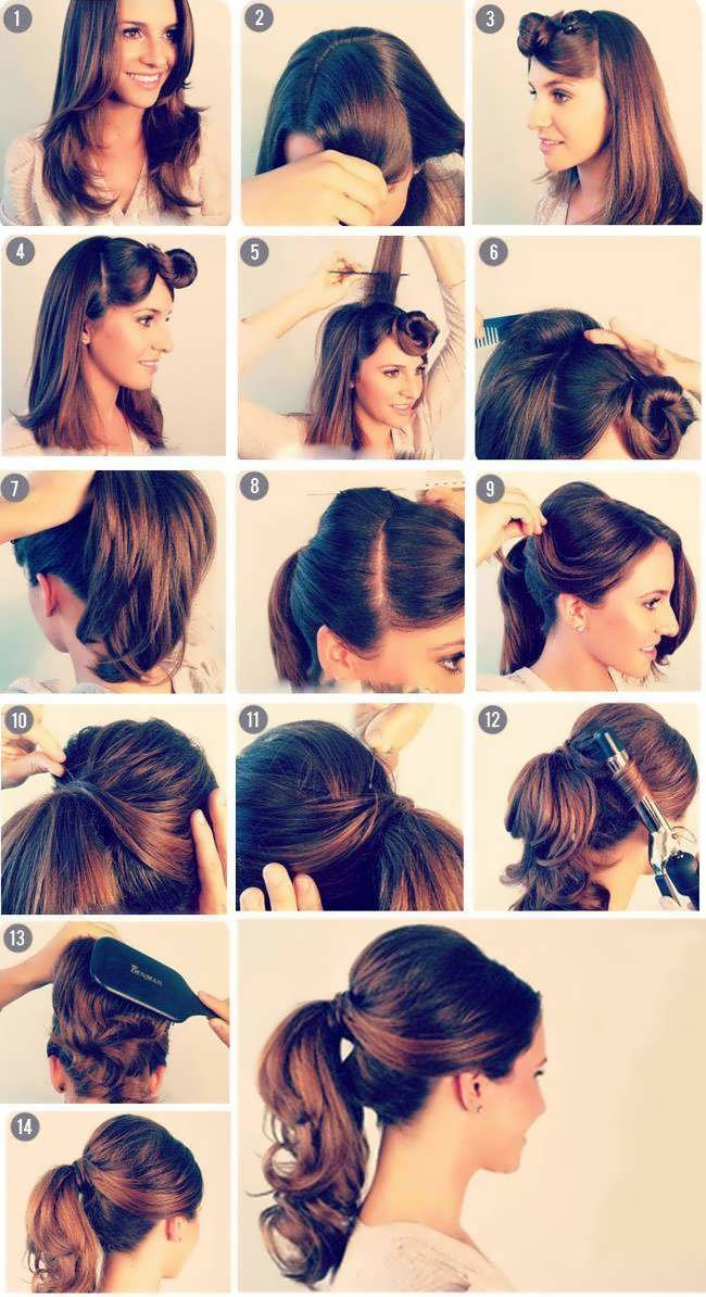 Как самой сделать начес на средние волосы