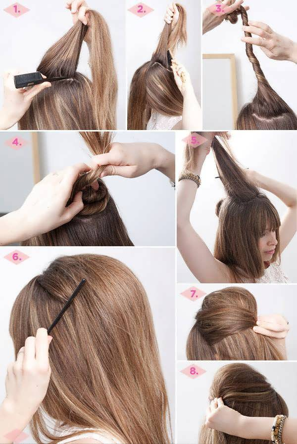 Как сделать начес на средние волосы