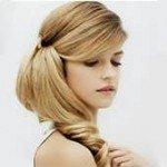 Стрижка на волосы до плеч с челкой