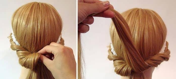 Как сделать греческую прическу на длинные волосы
