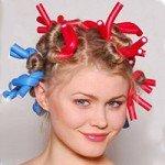 Как накрутить волосы на папильотки (бигуди бумеранги)?