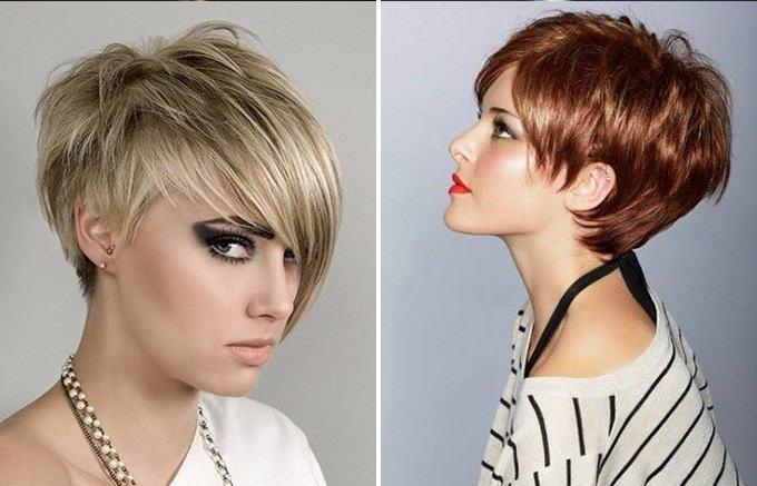 Короткие стрижки женские фото для тонких волос