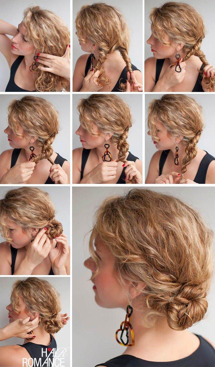 Легкие прически с невидимками на короткие волосы