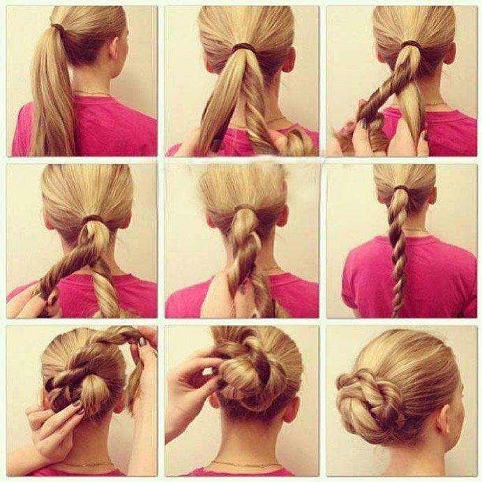 Идеи своими руками причесок на длинные волосы