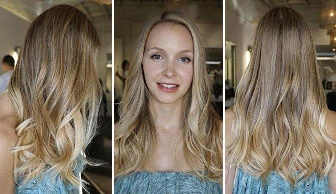 Мелирование на русых волосах