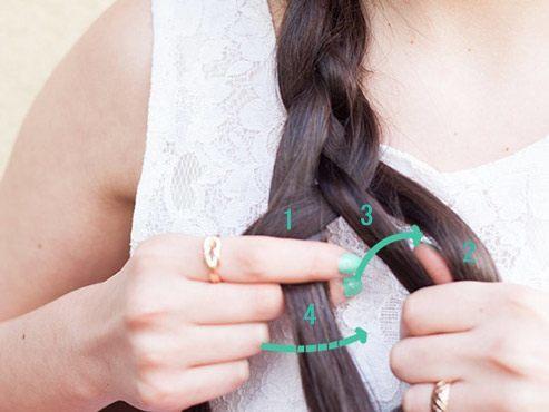 Klassicheskaya kosa iz chetyrekh pryadey (2)