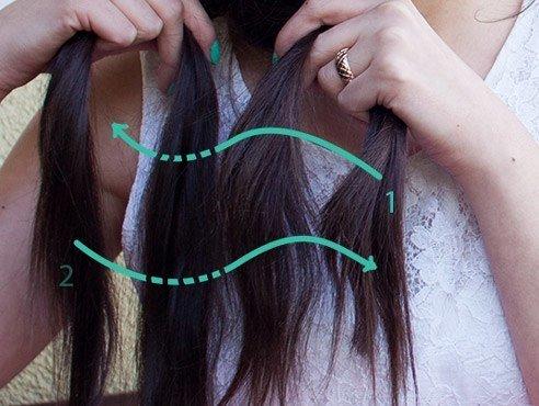Klassicheskaya kosa iz chetyrekh pryadey (4)
