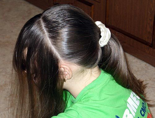 Прическа для девочки с резиночками