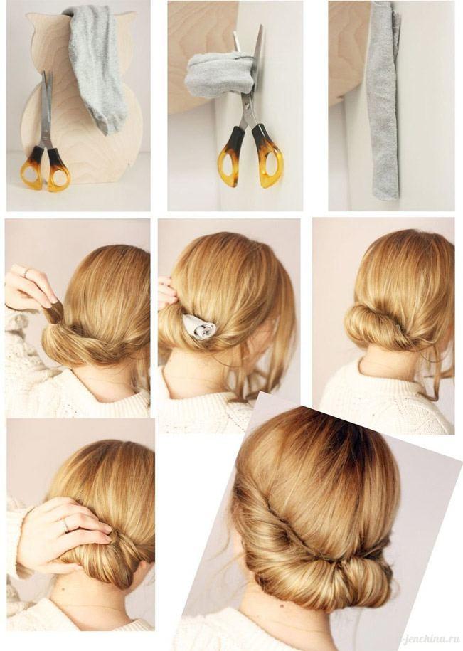 Сделать валик для волос своими руками