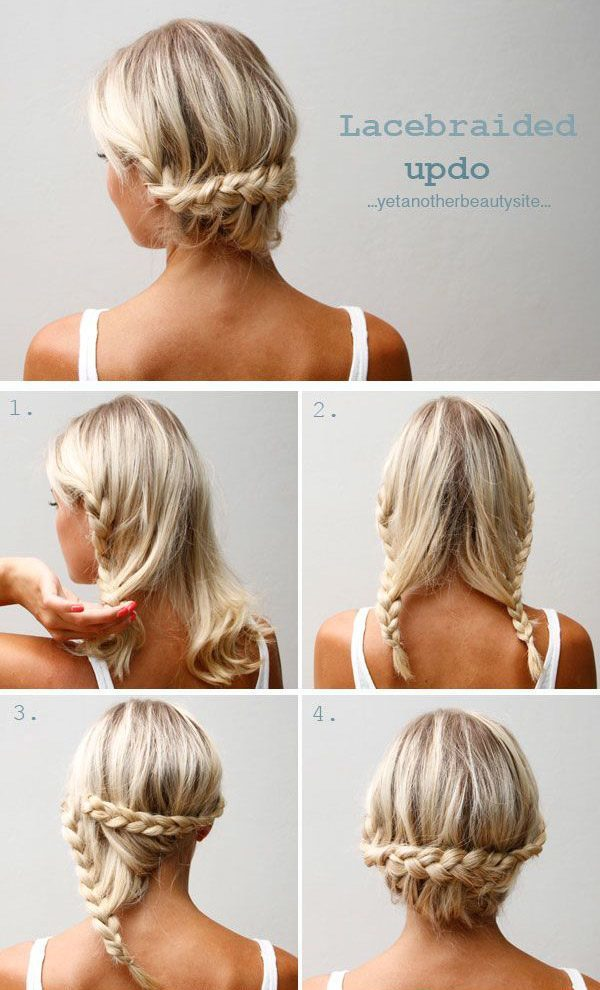 Укладка волос до плеч в домашних условиях