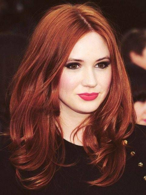 Каштановый рыжий цвет волос