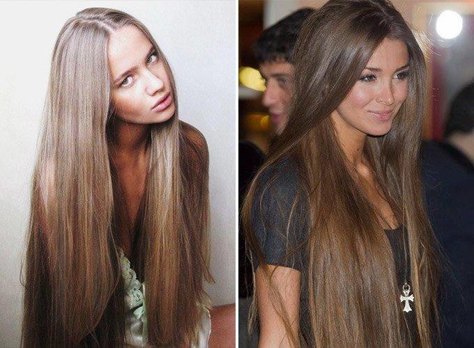 Пепельный цвет волос на тёмные волосы фото до и после