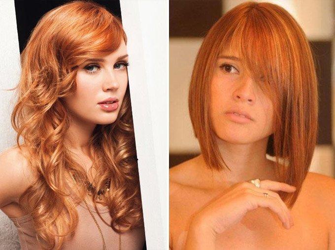мелирование рыжее на русые волосы фото