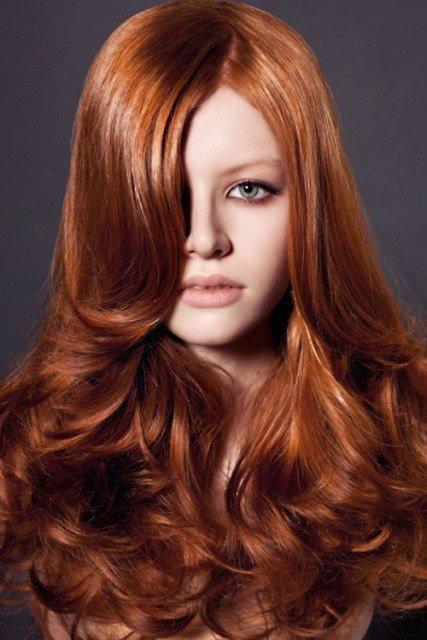 Цвет волос золотисто-медный