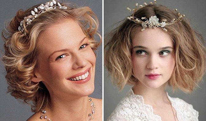 Прическа невесты короткие волосы 50 годы