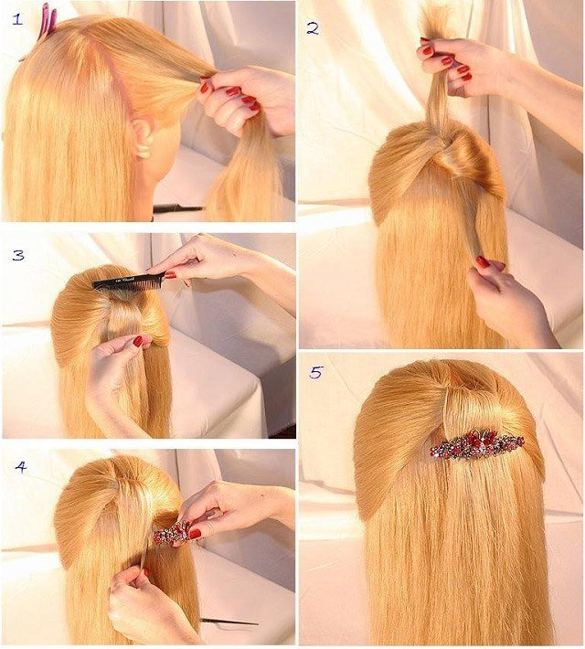 Прически распущенные волосы фото своими руками6