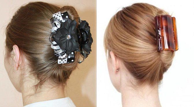 Как заколоть волосы красиво заколкой