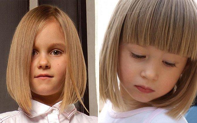 Причёска для девочки с чёлкой