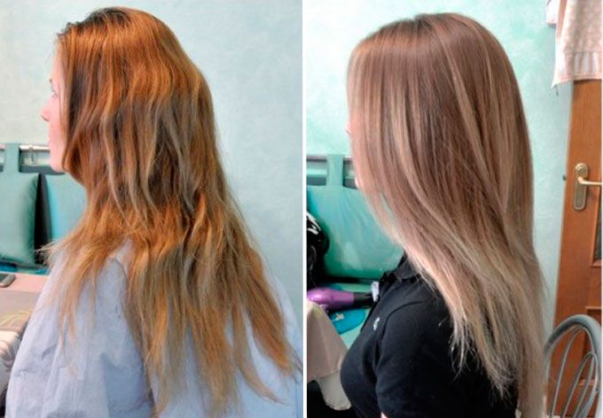 Брондирование результат до и после