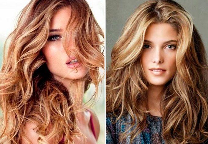 Классическое брондирование на русые волосы