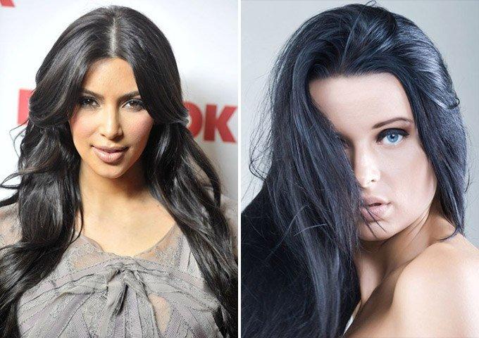 Покраска в черный цвет волос