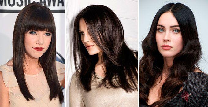 Тёмно-коричневый цвет волос фото