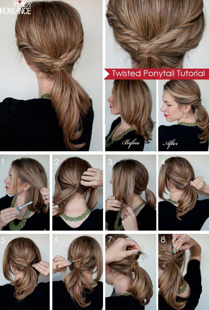 легкие прически на средний волос поэтапно