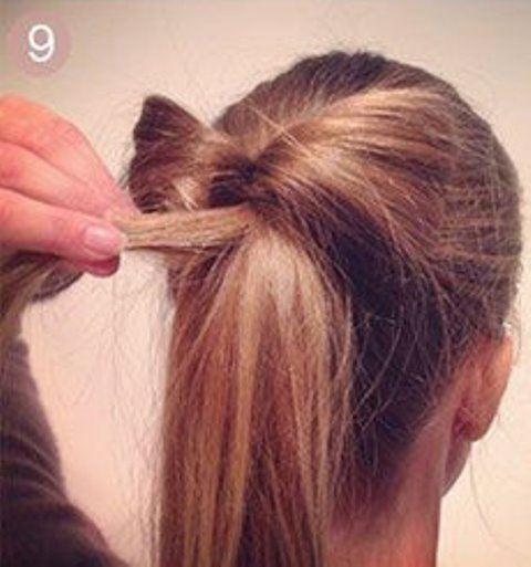 Необычный хвост из волос