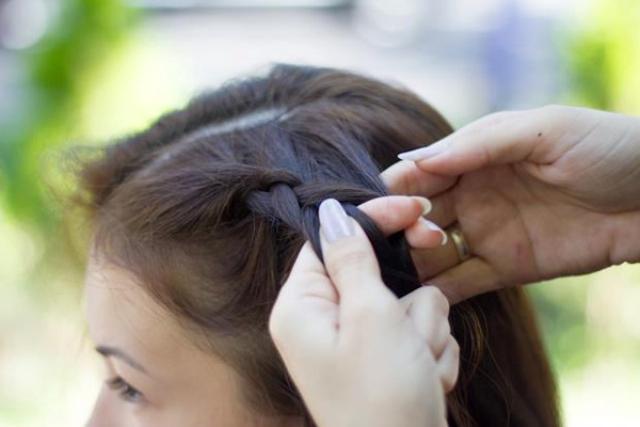 Как заплести корзинку из волос