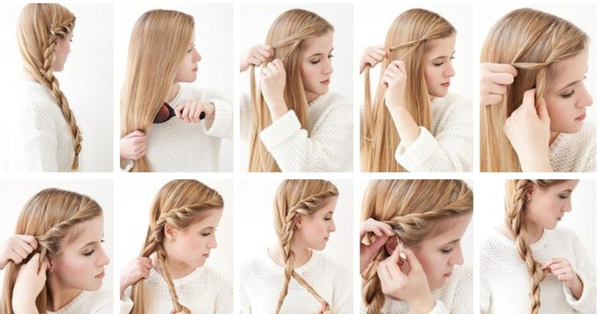 прически для себя на длинные волосы