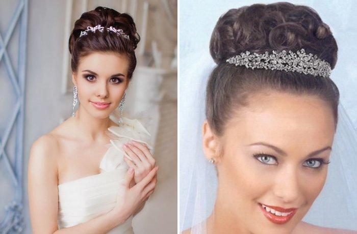 Пошаговые причёски с диадемой на свадьбу