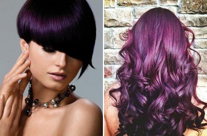 Кому идёт цвет волос баклажан