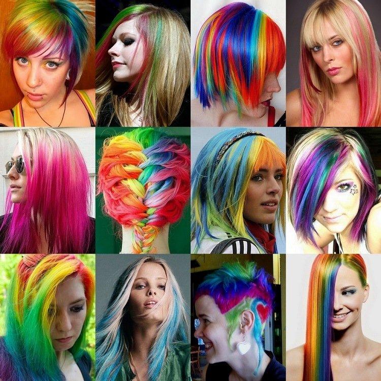 Как сделать цветные волосы дома фото 516