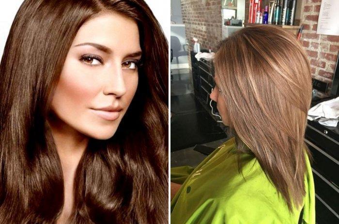 Цвета для колорирования темных волос