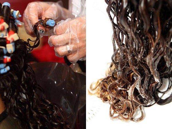 Мокрая химия на длинные волосы
