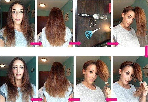 Как подровнять себе волосы самой себе