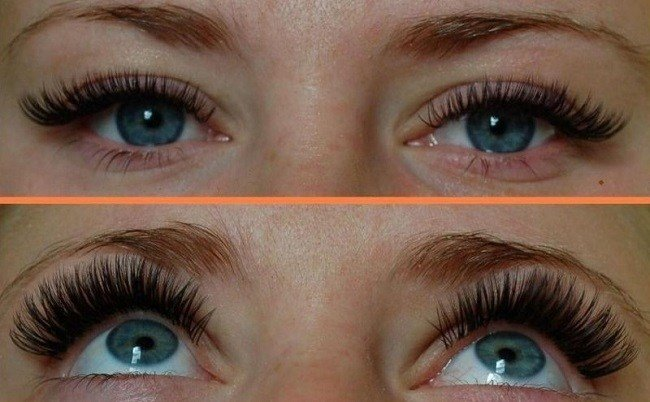 наращивание ресниц 3 д эффект фото до и после