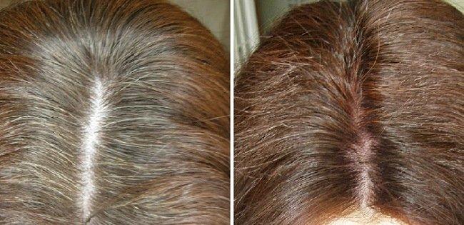 Покрасить корни волосы в домашних условиях 466