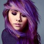 Цветовое разнообразие фиолетового омбре на темные волосы