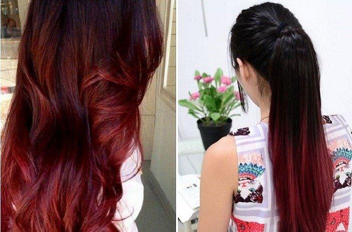 красное дерево на темные волосы