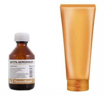 Berezovyy degot i shampun