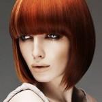 10 модных причесок с челкой на средние волосы